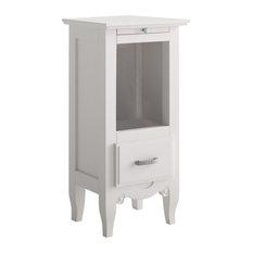 Grupo Seys Furniture Fontana Narrow Open Shelf Nightstand Nightstands And Bedside Tables