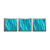 Turquoise Essence, Trendy Turquoise and Silver Accent Art