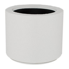 Milan Round Outdoor Planter, White