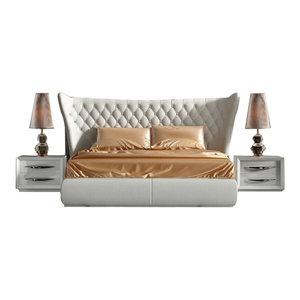Miami Modern 3-Piece Bedroom Set, Carmen White, King