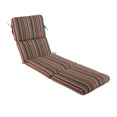 "Sunbrella Chaise Cushion, Brannon Redwood, 74""x23""x3.5"", Hinged at 46"""