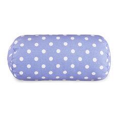 Lavender Polka Dots Round Bolster Pillow 18.5x8