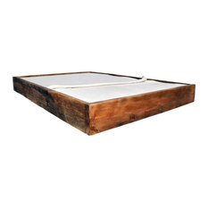 Lussan Rood Wooden Bed, Euro Double