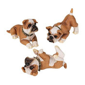Set of 3 Stop Drop and Roll Bulldog Puppies