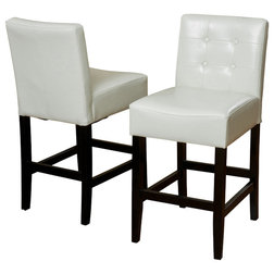 Epic Transitional Bar Stools And Counter Stools Gregory Ivory Leather Back Stool Set of Ivory
