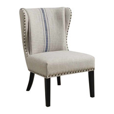 Coaster Traditional Accent Chair With Wing Back and Nailhead Trim