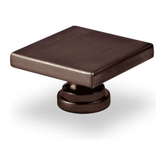 Topex Large Square Knob Brushed Oil Rubbed Bronze