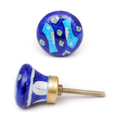 Fish/Nautical Design Knobs, Blue And Turquoise Fish , Set of 3