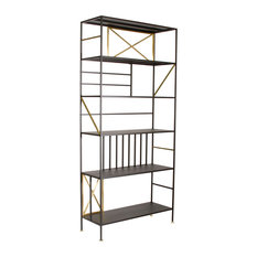 Sauder Boutique 5 Shelf Bookcase In Black