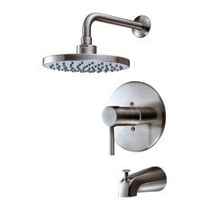 Hardware House 13-5627 Satin Nickel Tub / Shower Combo Faucet