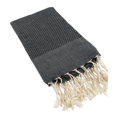 Fouta Honeycomb Solid Color, Black