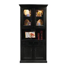 Eagle Furniture Manufacturers   Eagle Furniture Corner Dining Hutch/Buffet,  Black   China Cabinets