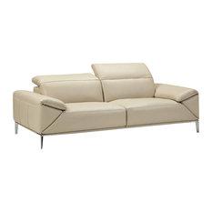 Greta Loveseat, Light Gray, Adjustable Neck Rest and Arm Cushions