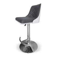 INSIDE 75 - Tabouret de Bar Bicolore SCANDI Gris et Blanc Style Scandinave - Chaise et Tabouret de Bar