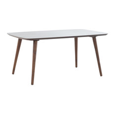 GDFStudio   Cilo Mid Century Design Wood Finished Coffee Table, Walnut   Coffee  Tables