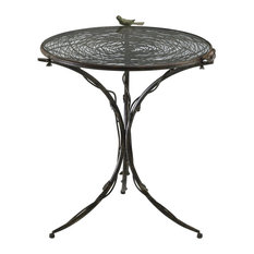 CYAN DESIGN   Cyan Design 01644 Bird Bistro Table, Muted Rust   Side Tables  And