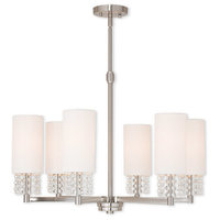 Carlisle 6 Light Chandelier in Brushed Nickel
