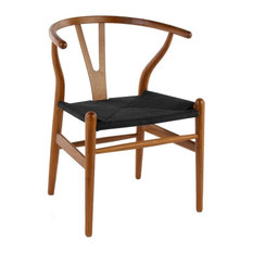 wood y dining chair seat black base walnut dining chairs