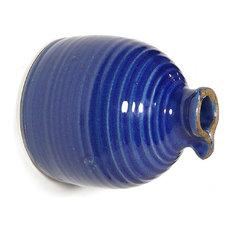 American Stoneware Pottery 'Peekaboo' Wall Mounted Bird Bottle, Blue