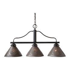 Barrington Medium Island Light with Punched Tin Shades