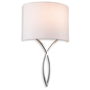 Conrad Pointed Chrome Wall Light