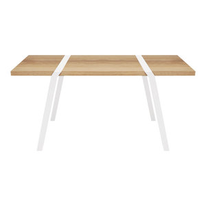 4-Seater Solid Oak Dining Table, White