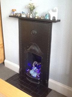 Purple Fireplace: modern or cheesy?