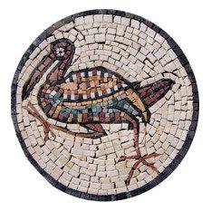 "Mosaic Medallion, Duck Stone, 12""x12"""