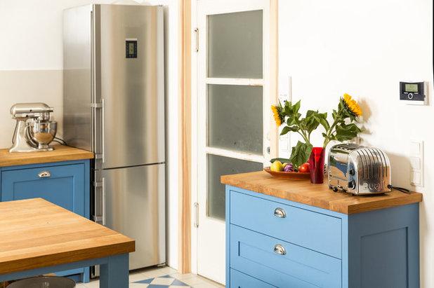 Eine Landhausküche macht blau!