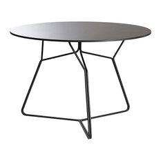 OASIQ Serac 105 Dining Table, Anthracite Frame, Black Top
