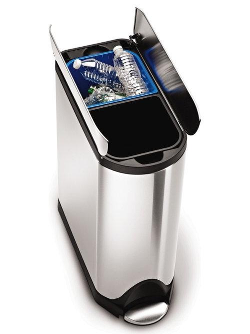 Simplehuman Butterfly Recycling Bin   Recycling Bins