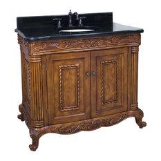 Hardware Resources VAN012 Wood Vanity, Without Top