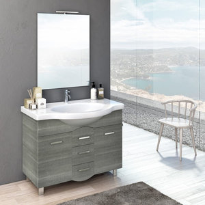 Venus 4-Piece Grey Wood Bathroom Vanity Set, 85 cm