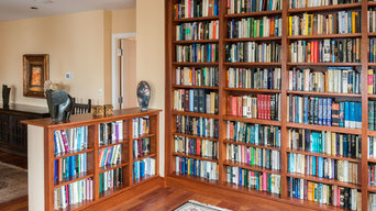 Cherry Library with Side Bookcases