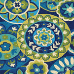 """Couristan - Covington Rip Tide Outdoor Area Rug, Ocean-Green, 3'.6"""" x 5'.6"""" - The Covington Rip Tide Outdoor Area Rug is the perfect solution for a multitude of indoor and outdoor spaces in today's home.  If you're thinking about a rug for the casual areas in your home like the kitchen, mudroom, indoor porch, entryway or covered outdoor patio area, look no further.  The Covington Rip Tide Outdoor Area Rug will offer you bright colors along with floral patterns and geometric patterns.  Available in a variety of sizes, small to large including runners."""