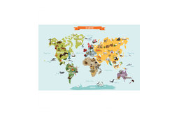 The World Map, Poster Wall Sticker, Large