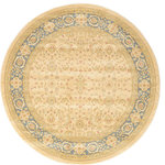 Unique Loom - Unique Loom Cream Edinburgh Aurinia 6' 0 x 6' 0 Round Rug - The classic look of the Edinburgh Collection is sure to lend a dignified atmosphere to your home. With an array of colors and patterns to choose from, there�s a rug to suit almost any taste in this collection. This Edinburgh rug will tie your home�s decor together with class and amazing style.