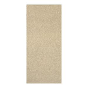 Plain Jacquard Woven Vinyl Floor Cloth, Beige, 70x200 cm