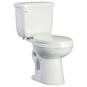 PROFLO PFCT100HE Two-Piece High Efficiency Toilet With Round-Front Bowl and Lef