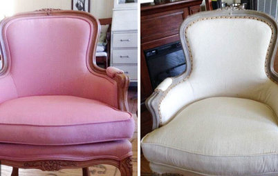 Project Rehab: Armchair Goes From Bubble Gum Pink to Shabby Chic