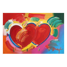 Peter Max, Two Hearts As One, Original Mixed Media