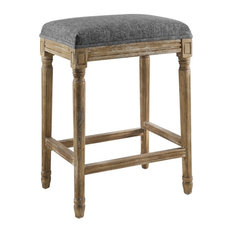 Linon Arden Backless Wood Counter Stool In Gray