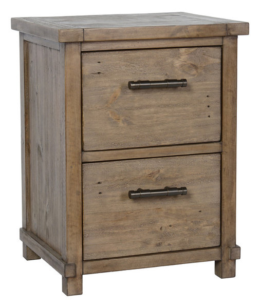 Fargo Pine 2-Drawer Filing Cabinet - Rustic - Filing Cabinets - by Kosas