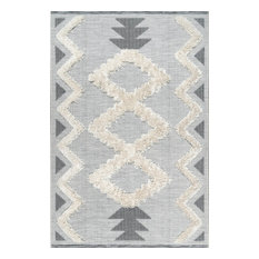 "nuLOOM Sadie Casuals Geometric Area Rug, Off-White, 5'3""x7'7"""