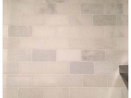 Show Me Your White Grout With Marble Tiles Please