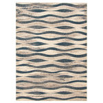 """ECARPETGALLERY - eCarpetGallery Abstract Area Rug, Indoor Carpet Ivory/Blue 6'7"""" x 9'6"""" - The Neela Collection sets the tone with bold geometric designs in an array of colors, with something to complement any interior style. Trendy and original patterns characterize this collection, and lend it versatility and the potential to decorate your space in many ways. Made from plush material, this collection ensures underfoot softness and is perfect for a family home."""