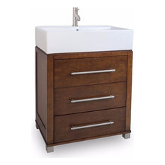 "Jeffrey Alexander 28"" Briggs Single Sink Vanity Set, Espresso/Chocolate"