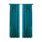 Circle Dream Window Curtain, Turquoise