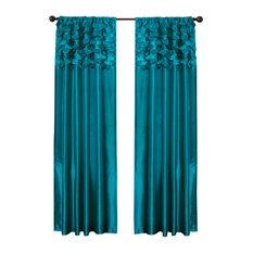 Beautiful Lush D_cor   Circle Dream Window Curtain, Turquoise   Curtains