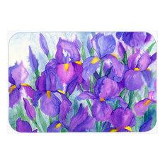 Purple Iris Glass Cutting Board, Large